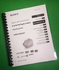 COLOR PRINTED Sony Video Camera HDR UX5 UX7 Manual User Guide 143 Pages