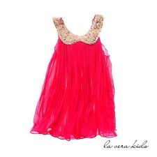 NEW Amelia Dress For Baby And Kids - 7-8 Yrs Fuschia