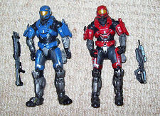2x HALO McFARLANE HAZOP SPARTAN FIGURES WITH WEAPONS.