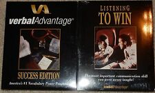 Verbal Advantage Success Edtion & Listening to Win New Sealed Cassettes Speaking