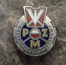 Polish Motorsports Association Poland PZM Polski Zwiazek Motorowy MX Pin Badge