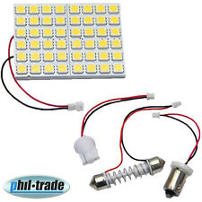 Panel LED blanco cálido 48 x 5050 SMD adaptador ba9s h4w t10 w5w soffitte 36 39 42 mm