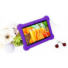 "Quad Core 7"" Tablet Kids 8GB HD Android 4.4 Dual Camera Wi-Fi Bluetooth Purple"