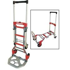Milwaukee 300 Lb. Capacity 2-In-1 Hand Truck Dolly Work Cart Trailer Haul Wagon