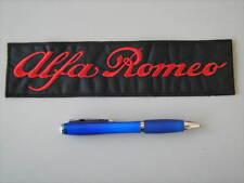 TOPPA ALFA ROMEO PATCH RICAMATO ROSSO TERMOADESIVO CM.22X5,5