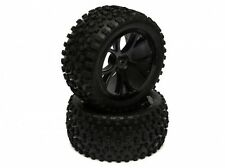 1/10 Buggy 10-spoke Wheels & Tyres Full Set (Front & Rear) - Black Boom Racing