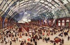 St Pancras Railway Station London used old pc 1913  Midland Railway Official ?