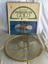 Vintage Hospitality Gold by Jeannette Glass Lazy Susan Snack Serving Plate