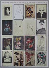 Horst Janssen Vier hoch zwei an sich Postkarten Offsetdruck 1972 handsigniert