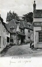 Corner of old Nailsworth Red Lion Inn old pc used 1905 Wrench Nails. postmark