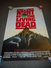 NIGHT OF THE LIVING DEAD - ORIGINAL SS ROLLED POSTER - 1990 - TOM SAVINI