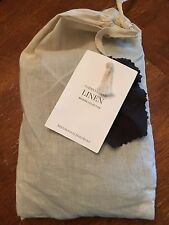 Restoration Hardware Garment-Dyed Linen Linen Euro Sham Charcoal - NEW!