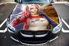 Vinyl Car Hood Harley Quinn with Bat Graphics Decal Sticker fit any Auto