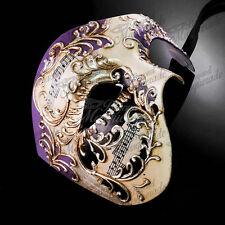 Mens Musical Half Phantom of the Opera Venetian Masquerade Ball Mask [Purple]