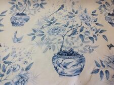 Zoffany Romey's Garden Fabric By The Metre In Porcelain