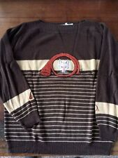 Vintage CYN LESS Shirlee Designs Brown Fox Sweater (46 - fits 16W 18W)