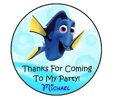 24 FINDING DORY PERSONALIZED BIRTHDAY THANK YOU FOR COMING PARTY STICKERS FAVORS