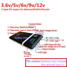 Mobile Power Bank Six 18650 Battery Charger Box for iphone router DC 5V 9v 12V