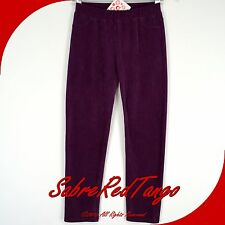NWT HANNA ANDERSSON RIBBED VELOUR SKINNY PANTS SUPERSOFT LEGGINGS PURPLE 120 7