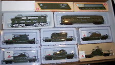 HO MILITARY US ARMY F-3 LOCO & 6 CARS W/TANKS TRAIN SET  US ARMY TRAIN SET  #10