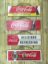 Coca-Cola Wooden Sign x4 Collection