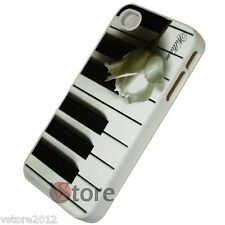 Cover Custodia Rigida Per iPhone 4/4S Tasti Pianoforte + Pellicola Salva Display