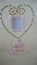 ROSE RESIN HEART PHOTO HOLDER ON STAND FROM CURRENT INC. BRAND NEW