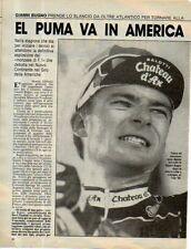 MA130-Clipping-Ritaglio 1989 Gianni Bugno ciclismo