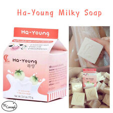 New++Ha-Young Milk Soap with Tomato Extract Brightening skin anti-aging 70 g.+++
