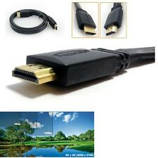 6m LONG FLAT v1.4 High Speed HDMI Cable With 3D Ethernet 4K 1080p Full HD Gold