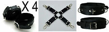 4 Padded Premium Locking Wrist/Ankle Restraints with Hog Tie, Collar & Padlocks!