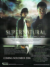 SUPERNATURAL SEASON ONE TRADING CARDS SELL SHEET