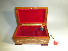 EXC VINTAGE REUGE DANCING BALLERINA MUSIC JEWELRY BOX JUST SERVICED (SEE VIDEO)