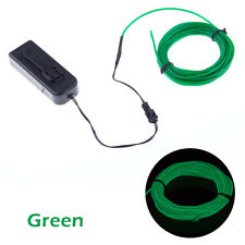 5M/16ft Flexible EL Wire Neon LED Light Rope Party Car Decorate Battery US (FO)