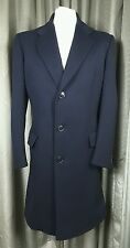 Gieves & Hawkes Vintage 60s Savile Row 100% Wool Navy Fitted Morning Coat 40R