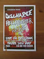 Discharge + Hellkrusher Etc - A5 Punk/Metal Flyer For Newcastle Gig At Trillians