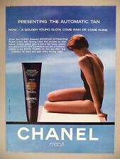 Chanel Self-Tanning Lotion PRINT AD - 1990 ~ swimsuit