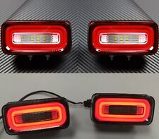 rear LED FOG BACK LAMPs lights  for Mercedes G Class W463 86 - 2016 (Clear RED)