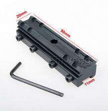 Rail Base 11mm Dovetail to 20mm Weaver Picatinny Scope Mount Adapter Converter