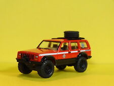 JEEP CHEROKEE 4X4 EMERGENCY VEHICLE 1/64 SCALE LIMITED EDITION REAL RUBBER PW