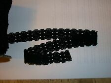 "CLOSEOUT ROLL SPOOL BOLT LACE BLACK SOFT STRETCH 50yds 1"" GOTHIC CRAFT DOLL"