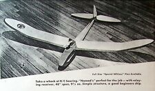 "Vintage 48"" RC .02 Power Pod Glider Model Airplane PLAN + Construction Article"