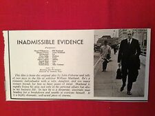 m12s ephemera 1969 film review inadmissible evidence peter sallis ingrid brett