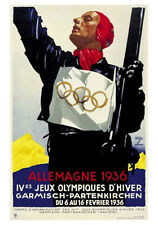 GARMISCH GERMANY 1936 Winter Olympics Official Olympic Museum POSTER Reprint