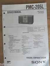 Schema SONY - Service Manual Personal Component System PMC-205L PMC205L