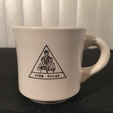 Vintage 80s Job's Daughters IYOB FILIAE Deputy Grand Guardian Coffee Mug Masonic