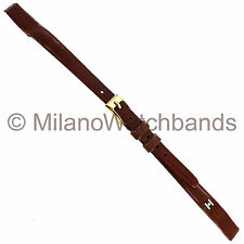 8mm Hirsch Brown Chevreaux Genuine Leather Ladies Open End Watch Band