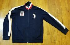 Polo by Ralph Lauren LARGE USA 2011 11 10 Big Pony Blue Jacket Full Zip Navy