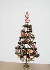 Gansfederbaum geschmückt alter Glas Christbaumschmuck Weihnachtsschmuck Pappe