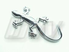 CHROME SILVER 3D AUDI QUATTRO GECKO LIZARD CAR BADGE EMBLEM A1 A3 A4 S3 S LINE